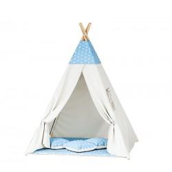 Namiot dziecięcy indiańskie TIPI WIGWAM - Blue White