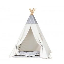 Namiot dziecięcy indiańskie TIPI WIGWAM - Grey White