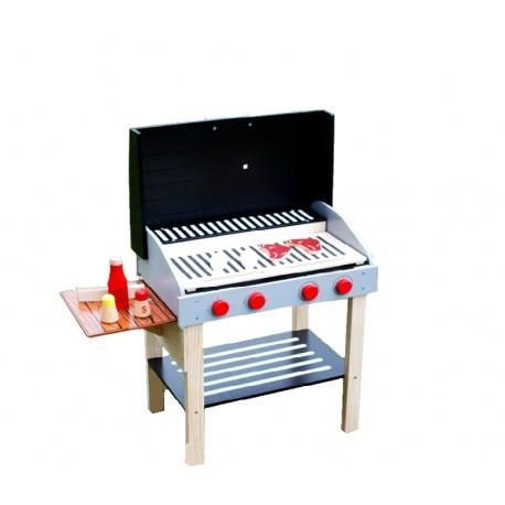 Zestaw drewniany grill BBQ GRILL - (W10D123)