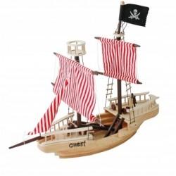 Drewniany statek piracki - DUŻY (W03B001)