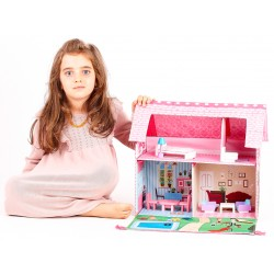 NOWOŚĆ Duży domek dla lalek MDF GLORIA - (SW1737)