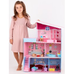 NOWOŚĆ Duży domek dla lalek MDF SAVANA - (SW1736)