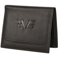 Prestiżowy skórzany portfel marki 19V69 ITALIA - C185 Black