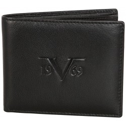 Prestiżowy skórzany portfel marki 19V69 ITALIA - C186 Black