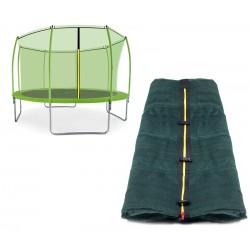 Siatka wewnętrzna trampoliny 366cm 12ft 8 słupków LIGHT GREEN