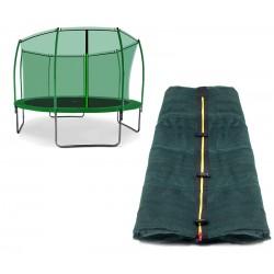 Siatka wewnętrzna trampoliny 366cm 12ft 8 słupków DARK GREEN