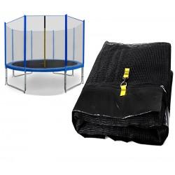 Chiemsee siatka zewnętrzna trampolina 430cm 14ft 8 słupków (niebieskie rękawy)