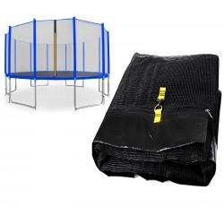 Chiemsee siatka zewnętrzna trampolina 488cm 16ft 12 słupków