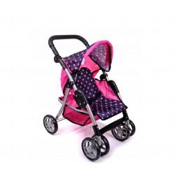 Wózek dla lalek sportowy 9352/ M1218 Hot Pink