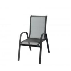 Krzesło ogrodowe ALU STAPEL MC MC330875 - black