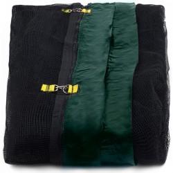 Siatka zewnętrzna trampolina 400cm 13ft 6 słupków Black net / Dark Green