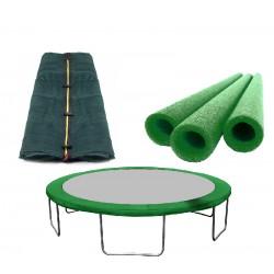 ZESTAW FIT DARK GREEN osłona+siatka+mirelony 250 cm(8ft)