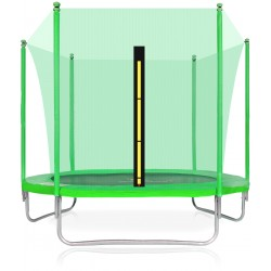 Trampolina ogrodowa aGa SPORT FiT 250cm 8ft 2018 - Light Green