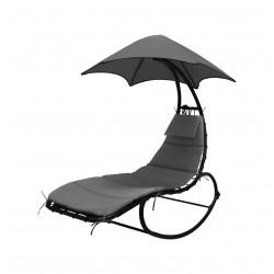 Leżanka, leżak, fotel bujany z parasolem Linder Exclusiv MC4355 GREY