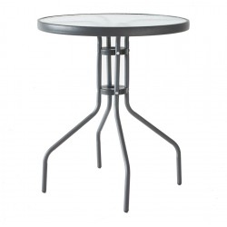 Szklany stół ogrodowy BISTRO ROUND