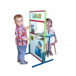 Poczta drewniana - zestaw do zabawy dla dzieci P1
