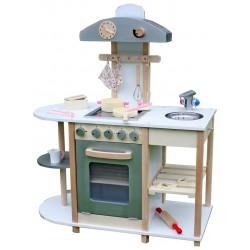Kuchnia drewniana dla dzieci WHITE COOK SET  (W10C099)