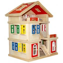 Domek dla lalek drewniany MELISSA  (W06A044)