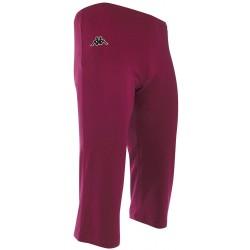 Spodnie 3/4 treningowe damskie KAPPA GEPAN Bordo