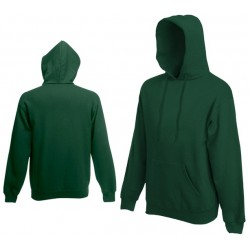 Bluza z kapturem Fruit of the Loom HOODED SWEAT Bottle Green