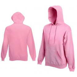 Bluza z kapturem Fruit of the Loom HOODED SWEAT Light Pink