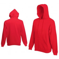 Bluza z kapturem Fruit of the Loom HOODED SWEAT Red
