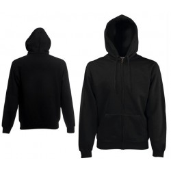 Bluza z kapturem na zamek Fruit of the Loom HOODED SWEAT JACKET Black