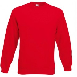 Bluza Fruit of the Loom SET-IN SWEAT Red