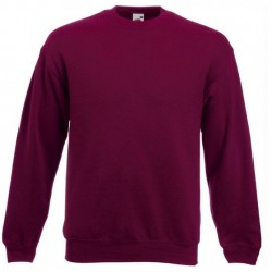 Bluza Fruit of the Loom SET-IN SWEAT Burgundy