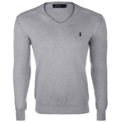 Sweter Ralph Lauren V-NECK SWEATER Grey Melange