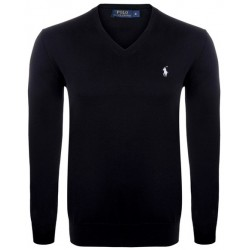 Sweter Ralph Lauren V-NECK SWEATER Black White