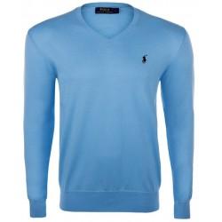 Sweter Ralph Lauren V-NECK SWEATER Turquoise