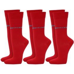 Skarpetki 3 x 2 PACK (6par) Pierre Cardin - 6 x red