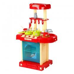Kuchnia plastikowa interaktywna walizka 008-58 RED/BLUE