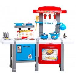 Kuchnia plastikowa interaktywna z lodówką HN006034 RED/BLUE