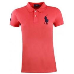 Koszulka Polo Ralph Lauren SKINNY-FIT Big Pony Red