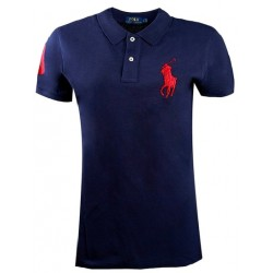 Koszulka Polo Ralph Lauren SKINNY-FIT Big Pony Newport Navy