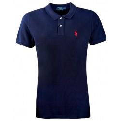 Koszulka Polo Ralph Lauren SKINNY-FIT Newport Navy Small Pony Red
