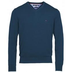 Sweter Tommy Hilfiger PIMA Dark Blue