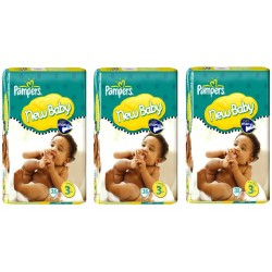 Pieluchy Pampers BABY DRY 3 MIDI (4-9kg) 3 pack - 114szt.