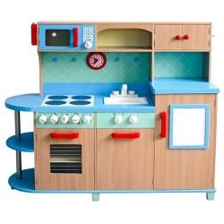 Kuchnia drewniana dla dzieci  SKY BLUE (W10C040)