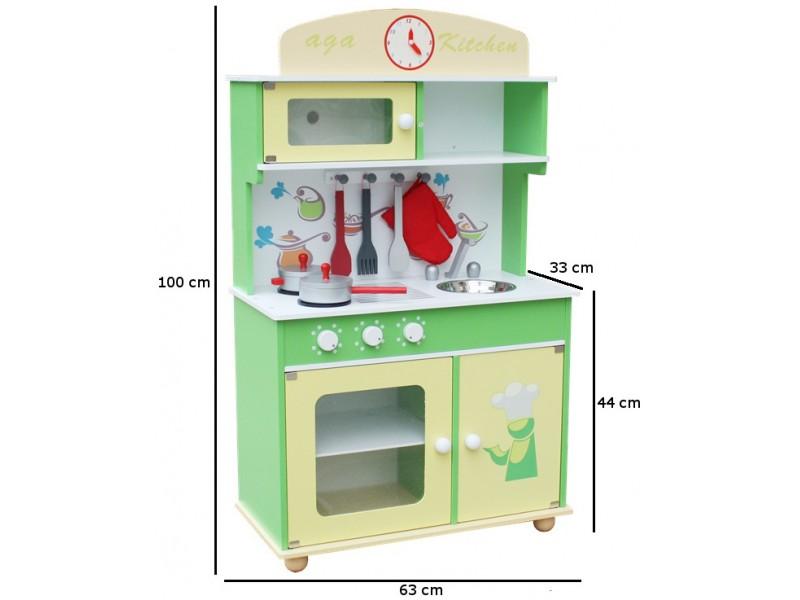 Kuchnia drewniana dla dzieci LIMET HOME KITCHEN (W10C034)  Trampolinowo pl -> Kuchnia Dla Dzieci Kitchen Interaktywna Akcesoria
