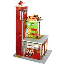Remiza strażacka drewniana FIRE STATION (W06A144)