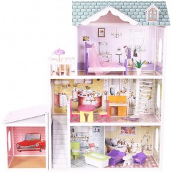 Domek dla lalek drewniany REZYDENCJA  BEVERLY HILLS GARAGE