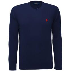 Sweter Ralph Lauren V-NECK Hunter Navy (Red)