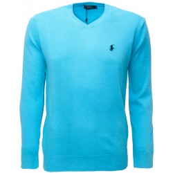 Sweter Ralph Lauren V-NECK Turquoise (Black)