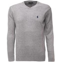 Sweter Ralph Lauren V-NECK Grey Melange