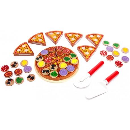 Zestaw pizza drewniana - W10B064
