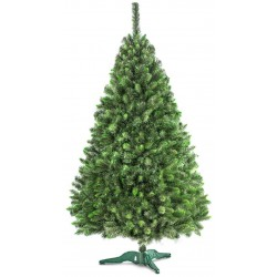 Choinka sztuczna ŚWIERK 220 cm - gęsty zielony + stojak