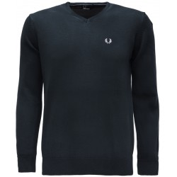 Sweter V-Nec Fred Perry - Black